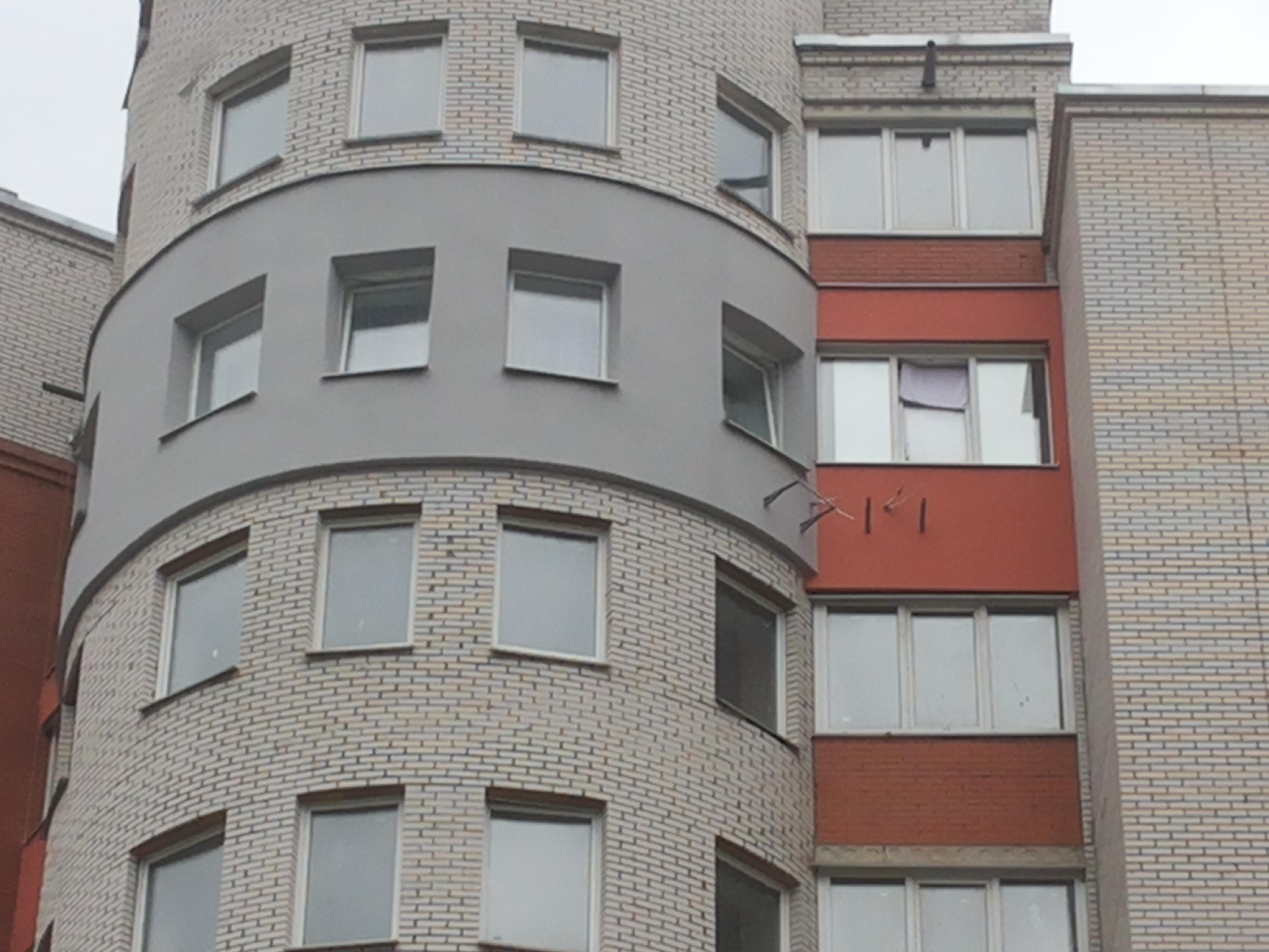 Утепление радиусного фасада
