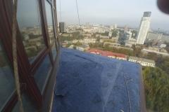 Кровля козырька балкона альпинистами г.Киев